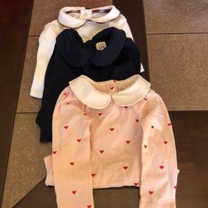 Peter Pan collar Long sleeve onesie bundle